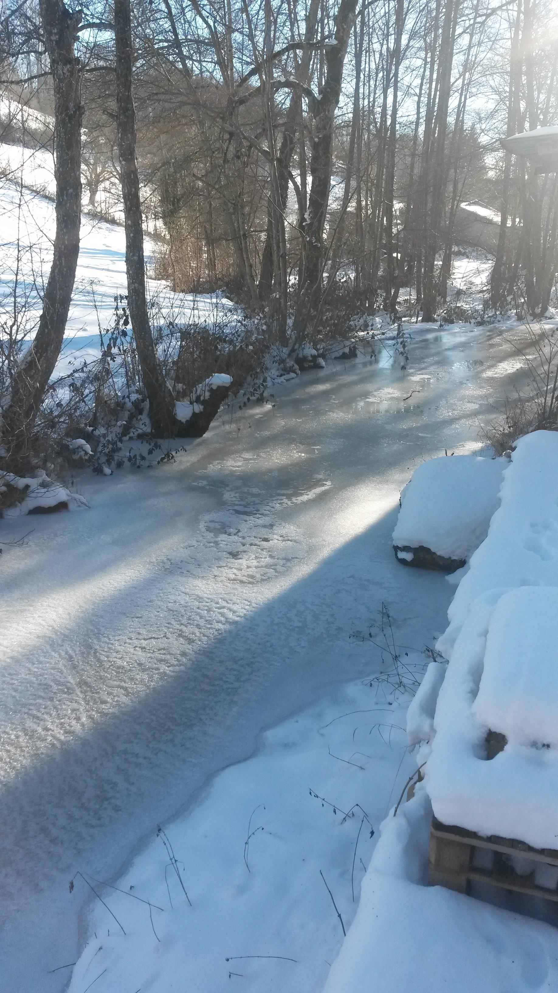 La glace sur la rivière le Ban