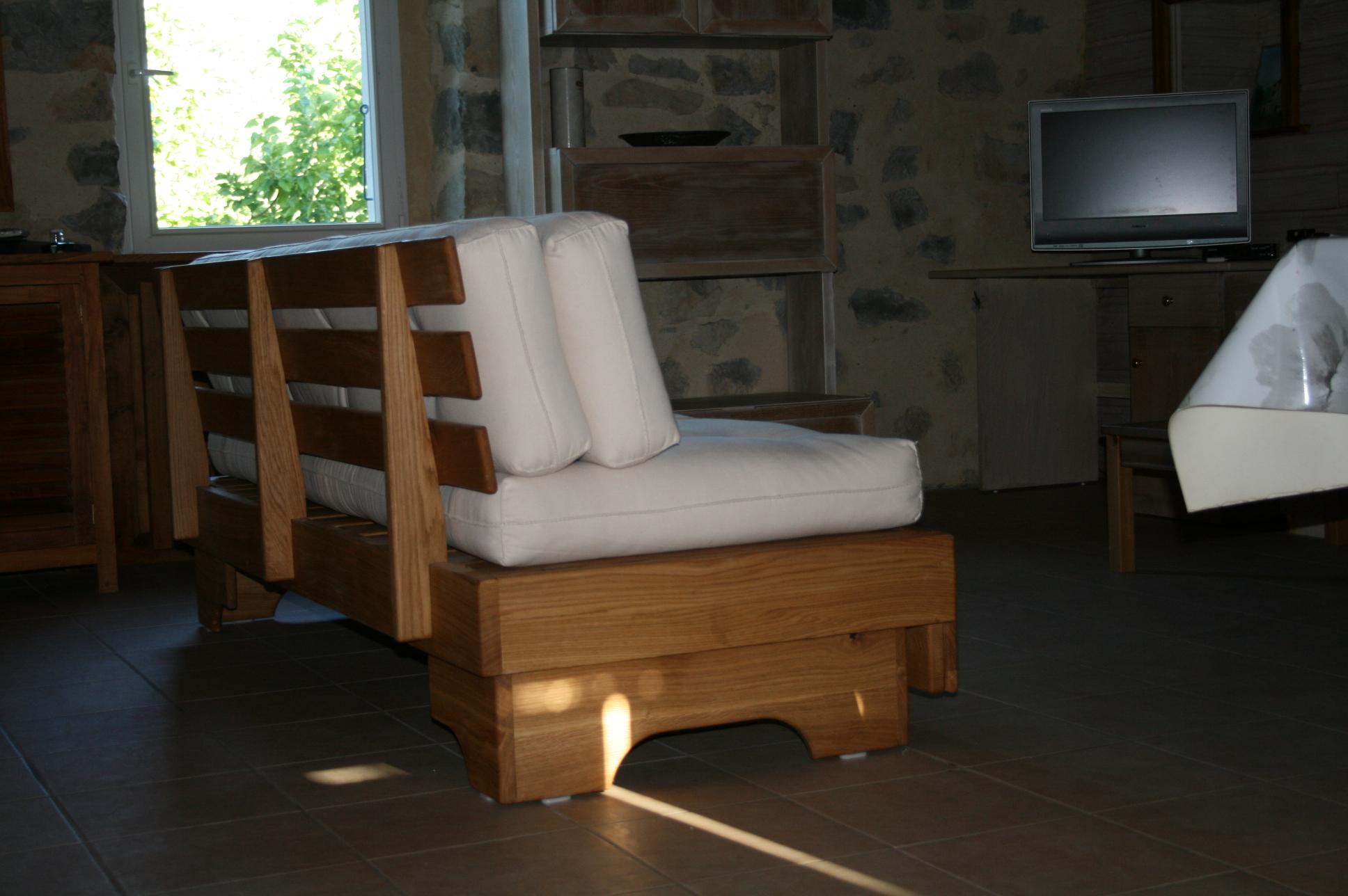 Sofa 2 positions avec  ses futons en coton bio