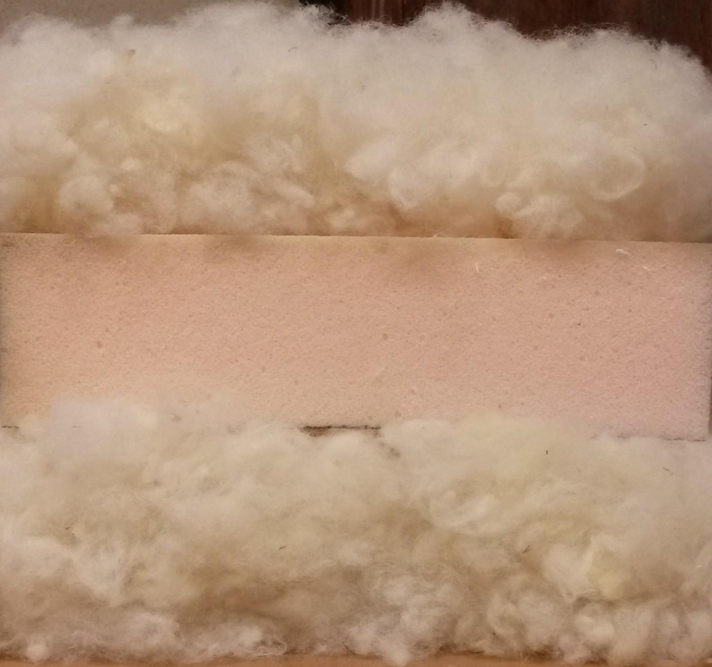 Matelas laine renforcée plaque HR 8cm 35 kg/m3 laine 3kg/m²