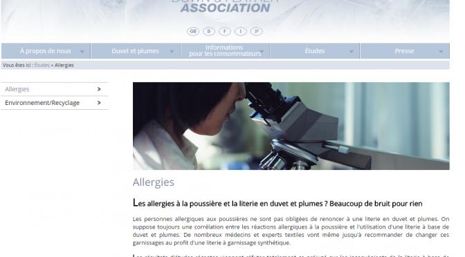 Allergies et acariens, l' EDFA publie sont étude