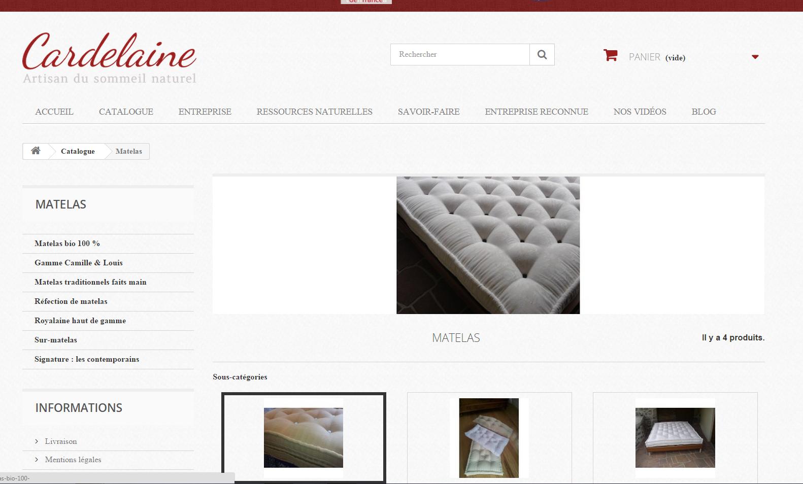 nouveau site cardelaine catalogue